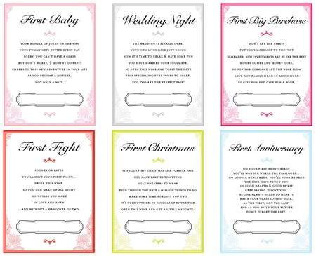 Wedding Wine Tags Set