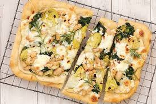 White Bean and Spinach Flatbread