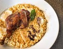 Duck Breast with Berry Sauce and Wild Mushroom Risotto