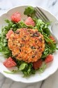 Salmon Cakes with a Kale and Wild Rice Salad